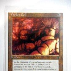 Juegos Antiguos: CARTA MAGIC VOODOO DOLL ( LEYENDAS EN INGLÉS ) ARTEFACTO. Lote 221987966