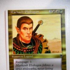 Juegos Antiguos: CARTA MAGIC MARHAULT ELSDRAGON ( LEYENDAS EN INGLÉS ) MULTICOLOR. Lote 221988927
