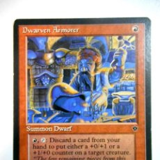 Juegos Antiguos: CARTA MAGIC DWARVEN ARMORER ( IMPERIOS CAÍDOS EN INGLÉS ) MONTAÑA. Lote 221990153
