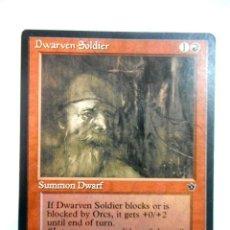 Juegos Antiguos: CARTA MAGIC DWARVEN SOLDIER ( IMPERIOS CAÍDOS EN INGLÉS ) MONTAÑA. Lote 221990280
