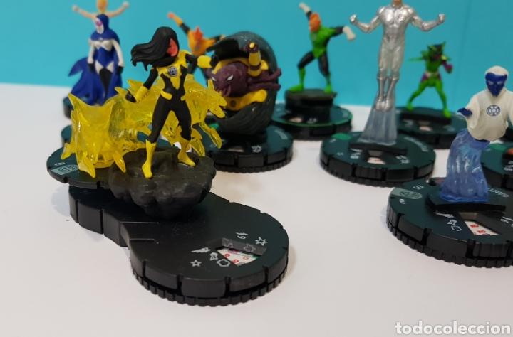 Juegos Antiguos: LOTE 17 HEROCLIX - DC COMICS - LA GUERRA DE LA LUZ - WAR OF LIGHT / 2 ORO SUPER RAROS, 2 PLATA RAROS - Foto 2 - 222081068
