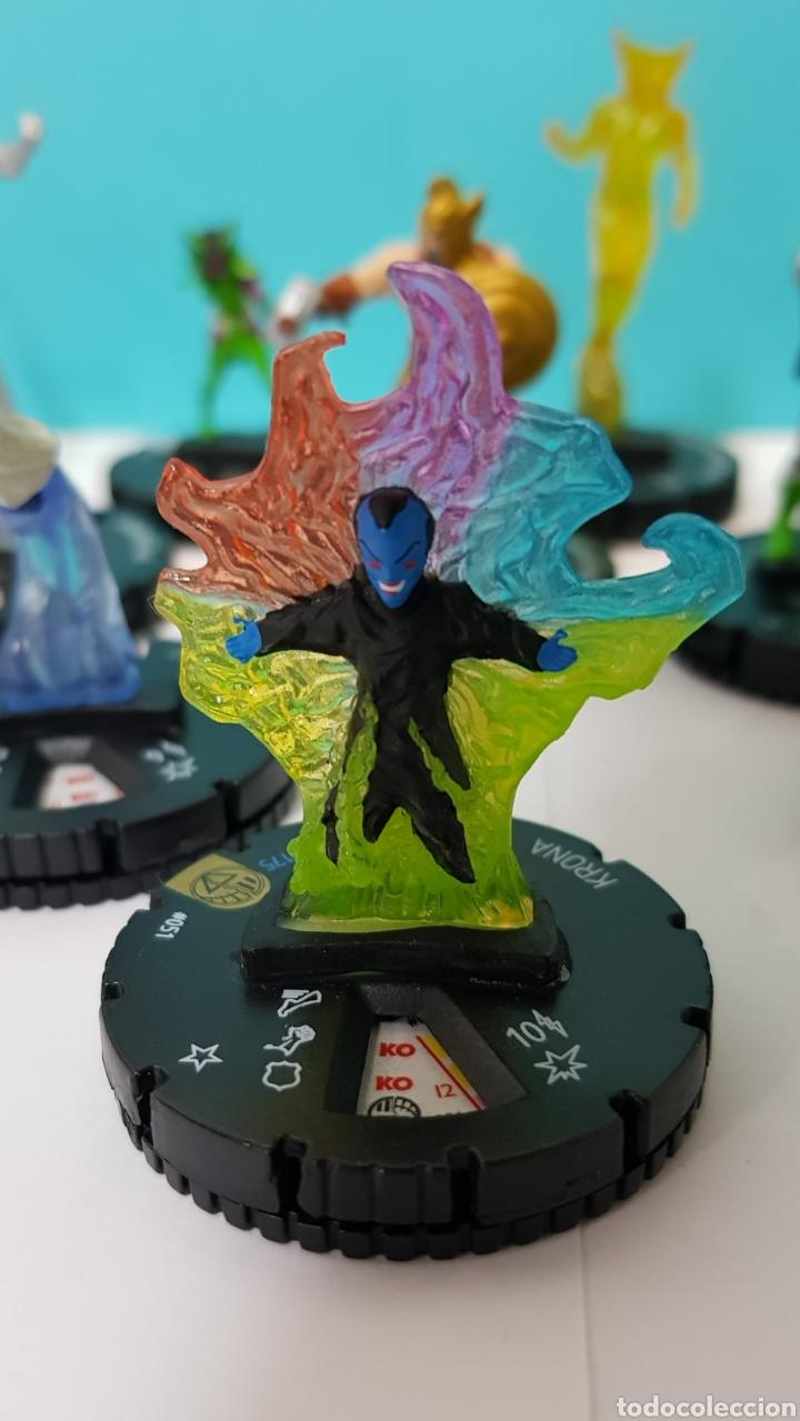 Juegos Antiguos: LOTE 17 HEROCLIX - DC COMICS - LA GUERRA DE LA LUZ - WAR OF LIGHT / 2 ORO SUPER RAROS, 2 PLATA RAROS - Foto 4 - 222081068