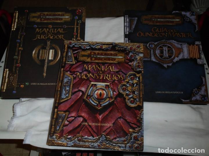 DUNGEONS & DRAGONS 3 TOMOS DE LIBRO DE REGLAS 1,2,Y 3.MANUAL DEL JUGADOR,MANUAL DE MONSTRUOS,GUIA DE (Juguetes - Rol y Estrategia - Juegos de Rol)