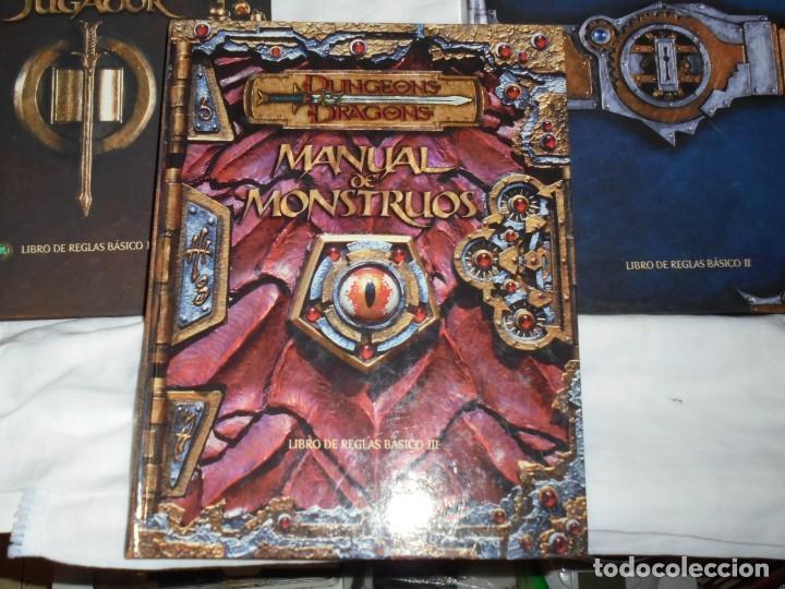 Juegos Antiguos: DUNGEONS & DRAGONS 3 TOMOS DE LIBRO DE REGLAS 1,2,Y 3.MANUAL DEL JUGADOR,MANUAL DE MONSTRUOS,GUIA DE - Foto 2 - 222249451