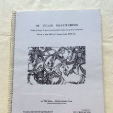 Juegos Antiguos: DE BELLIS MULTITUDINIS. WARGAME ANTIGÜEDAD Y MEDIEVAL. Lote 222282768