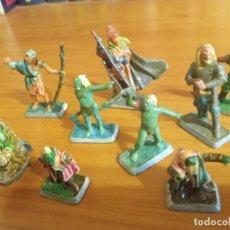 Juegos Antiguos: LOTE DE NUEVE FIGURAS DE PLOMO - MITHRIL. PINTADAS A MANO.. Lote 222316283