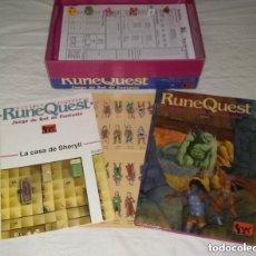 Juegos Antiguos: RUNEQUEST JUEGO DE ROL DE FANTASÍA BÁSICO CAJA JOC SIN DESTROQUELAR. Lote 222328246
