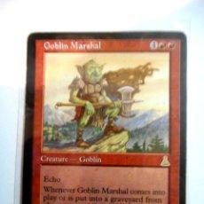 Juegos Antiguos: CARTA MAGIC GOBLIN MARSHAL ( DESTINO DE URZA EN INGLÉS ) MONTAÑA. Lote 222497732