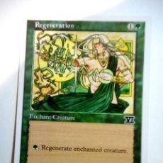 Juegos Antiguos: CARTA MAGIC REGENATION ( SEXTA EDICIÓN EN INGLÉS ) BOSQUE. Lote 222497975