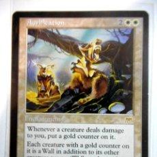 Juegos Antiguos: CARTA MAGIC AURIFICATION ( EMBESTIDA EN INGLÉS ) LLANURA. Lote 222530132