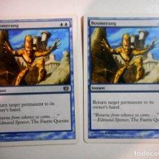 Juegos Antiguos: 2 CARTAS MAGIC BOOMERANG ( OCTAVA EDICIÓN EN INGLÉS ) ISLA. Lote 222534675