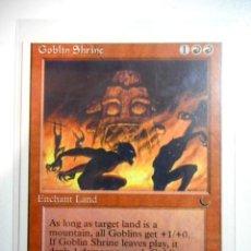 Juegos Antiguos: CARTA MAGIC GOBLIN SHRINE ( THE DARK EN INGLÉS ) MONTAÑA. Lote 222535107