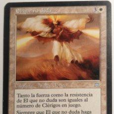 Juegos Antiguos: CARTA 27 EL QUE NO DUDA MAGIC THE GATHERING WIZARDS ILUSTRA JUSTIN SWEET. Lote 222566438