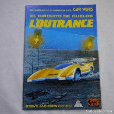 Juegos Antiguos: EL CIRCUITO DE DUELOS L'OUTRANCE - SUPLEMENTO DE AVENTURA PARA CAR WARS - STEVE JACKSON GAMES - 1992. Lote 222700170