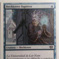 Juegos Antiguos: CARTA 81 HECHICERO FUGITIVO MAGIC THE GATHERING WIZARDS ILUSTRA JIM NELSON. Lote 222712656