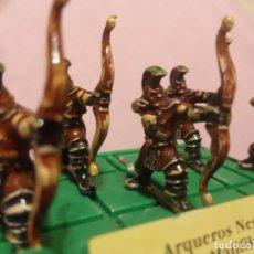 Juegos Antiguos: BATTLE MASTERS - MB JUEGOS - 5 ARQUEROS NEGROS PINTADOS A MANO.. Lote 222723613