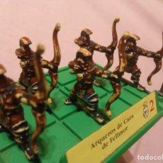 Juegos Antiguos: BATTLE MASTERS - MB JUEGOS - 5 ARQUEROS NEGROS PINTADOS A MANO.. Lote 222723623