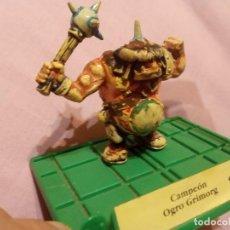Juegos Antiguos: BATTLE MASTERS - MB JUEGOS - CAMPEÓN OGRO GRIMORG PINTADO A MANO.. Lote 222723645