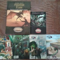 Juegos Antiguos: PACK SOLOMON KANE + GREENSPACE + REVISTA CRÍTICO (Nº 1-4) HT PUBLISHERS. Lote 223024641