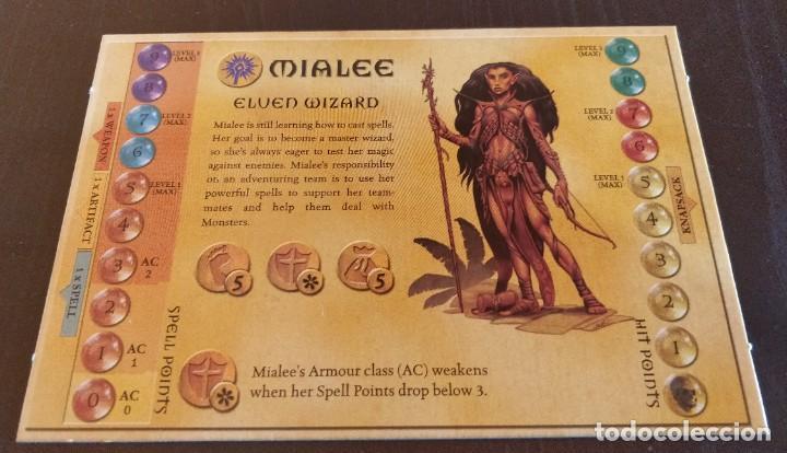 DUNGEONS DRAGONS TARJETA HEROE MIALEE HERO CARD DRAGONES MAZMORRAS PARKER JUEGO MESA ROL (Juguetes - Rol y Estrategia - Juegos de Rol)
