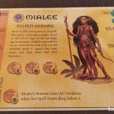 Juegos Antiguos: DUNGEONS DRAGONS TARJETA HEROE MIALEE HERO CARD DRAGONES MAZMORRAS PARKER JUEGO MESA ROL. Lote 226563680