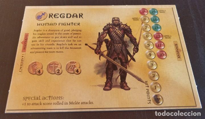 DUNGEONS DRAGONS TARJETA HEROE REGDAR HERO CARD DRAGONES MAZMORRAS PARKER JUEGO MESA ROL (Juguetes - Rol y Estrategia - Juegos de Rol)