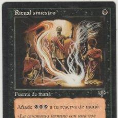 Juegos Antiguos: RITUAL SINIESTRO MTG. Lote 226634685