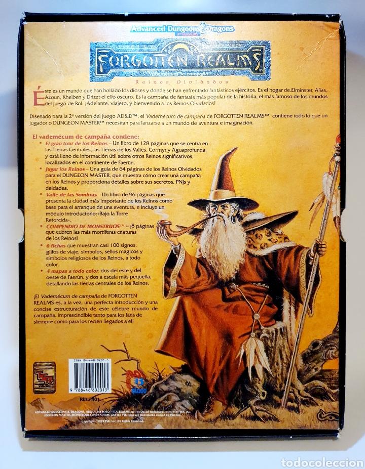 Juegos Antiguos: Advanced Dungeons&Dragons REINOS OLVIDADOS VADEMECUM DE CAMPAÑA ( ZINCO 401 ) - Foto 2 - 228585165
