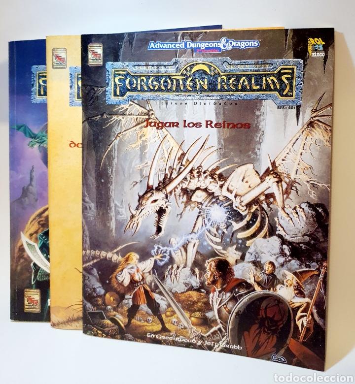 Juegos Antiguos: Advanced Dungeons&Dragons REINOS OLVIDADOS VADEMECUM DE CAMPAÑA ( ZINCO 401 ) - Foto 3 - 228585165