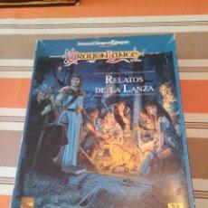 Juegos Antiguos: CAJA RELATOS DE LA LANZA DRAGONLANCE JUEGO DE ROL ADVANCED DUNGEONS AND DRAGONS. Lote 230177550