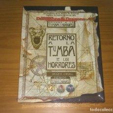 Juegos Antiguos: RETORNO A LA TUMBA DE LOS HORRORES GREYHAWK ADVANCED DUNGEONS & DRAGONS AD&D ROL PRECINTADO. Lote 230374045