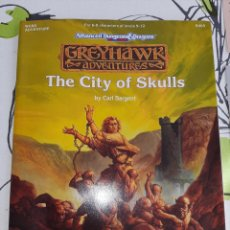 Juegos Antiguos: AVANCED DUNGEONS & DRAGONS , THE CITY OF SKULLS ,GREYHAWK ADVENTURES. Lote 231711105