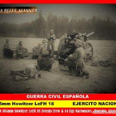 Juegos Antiguos: BELLE ALIANZA 1/72, SPANISH C.W /105 MM-S.F.H.18/18M HOWITZER + CREW & 12 FIGS NATIONAL GROUP.. Lote 235852465
