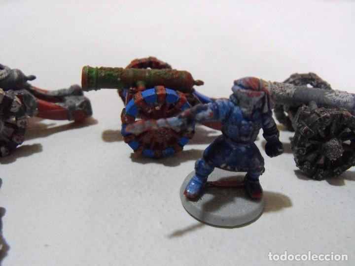 Juegos Antiguos: Battle Masters de MB juegos. !992. Lote de 3 cañones imperiales con dotación y pintura. - Foto 4 - 240774085