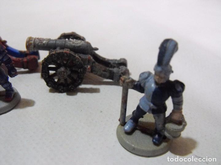Juegos Antiguos: Battle Masters de MB juegos. !992. Lote de 3 cañones imperiales con dotación y pintura. - Foto 5 - 240774085