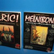 Giochi Antichi: LOTE 2 LIBROS JUEGOS DE ROL -ELRIC!-MELNIBONE-EN INGLES-BUEN ESTADO. Lote 240967120