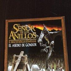Juegos Antiguos: MANUAL EL SEÑOR DE LOS ANILLOS EL ASEDIO DE GONDOR GAMES WORKSHOP. Lote 241024290