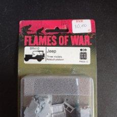 Jeux Anciens: FLAMES OF WAR JEEP THREE MODELS ASSAULT PLATOON. Lote 249461410