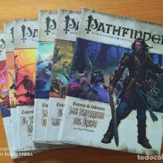 Jeux Anciens: PATHFINDER JUEGO DE ROL CONCEJO DE LADRONES - SENDA DE AVENTURAS COMPLETA - 6 LIBROS (B). Lote 252048645