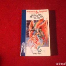 Jogos Antigos: DUNGEONS & DRAGONS Nº 1 PRISIONEROS DE PAX THARKAS CON TARJETA DE IDENTIFICACION DE PERSONAJE 1986. Lote 252967810