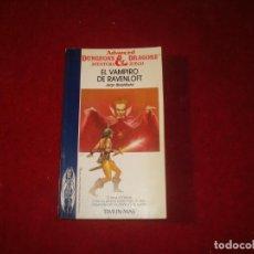 Jogos Antigos: DUNGEONS & DRAGONS Nº 6 EL VAMPIRO DE RAVENLOFT CON TARJETA DE IDENTIFICACION DE PERSONAJE 1987. Lote 252968260
