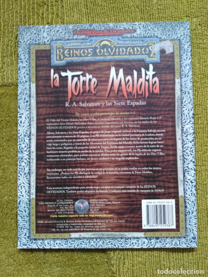 Juegos Antiguos: ADVANCED DUNGEONS & DRAGONS LA TORRE MALDITA (MARTINEZ ROCA TSR0020) - Foto 2 - 253903695