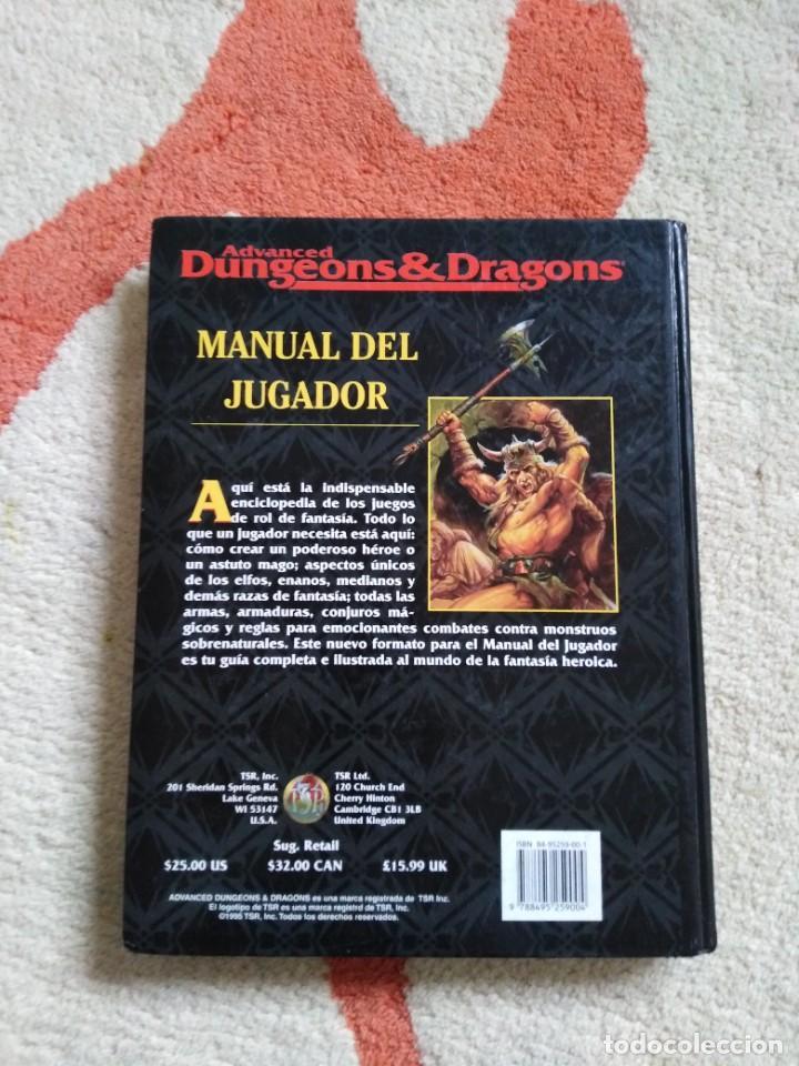 Juegos Antiguos: ADVANCED DUNGEONS & DRAGONS MANUAL DEL JUGADOR (MARTINEZ ROCA TSR0001) - TAPA DURA - Foto 2 - 253908245