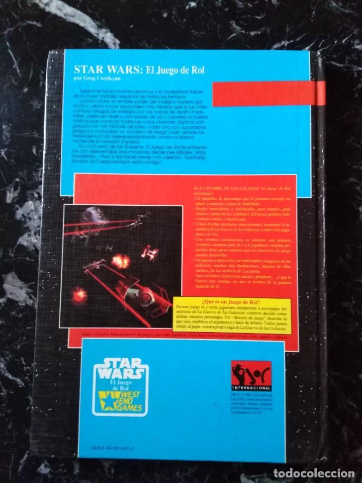 Juegos Antiguos: STAR WARS EL JUEGO DE ROL BASICO (JOC INTERNACIONAL 401) - TAPA DURA - Foto 2 - 253923305