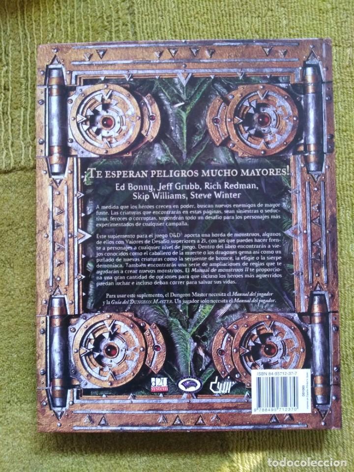 Juegos Antiguos: DUNGEONS & DRAGONS MANUAL DE MONSTRUOS II (DEVIR DD1003) - TAPA DURA - Foto 2 - 253926905