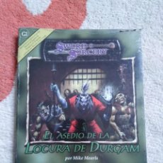 Juegos Antiguos: DUNGEONS & DRAGONS EL ASEDIO DE LA LOCURA DE DURGAM (LA FACTORIA LFDD207). Lote 253928080