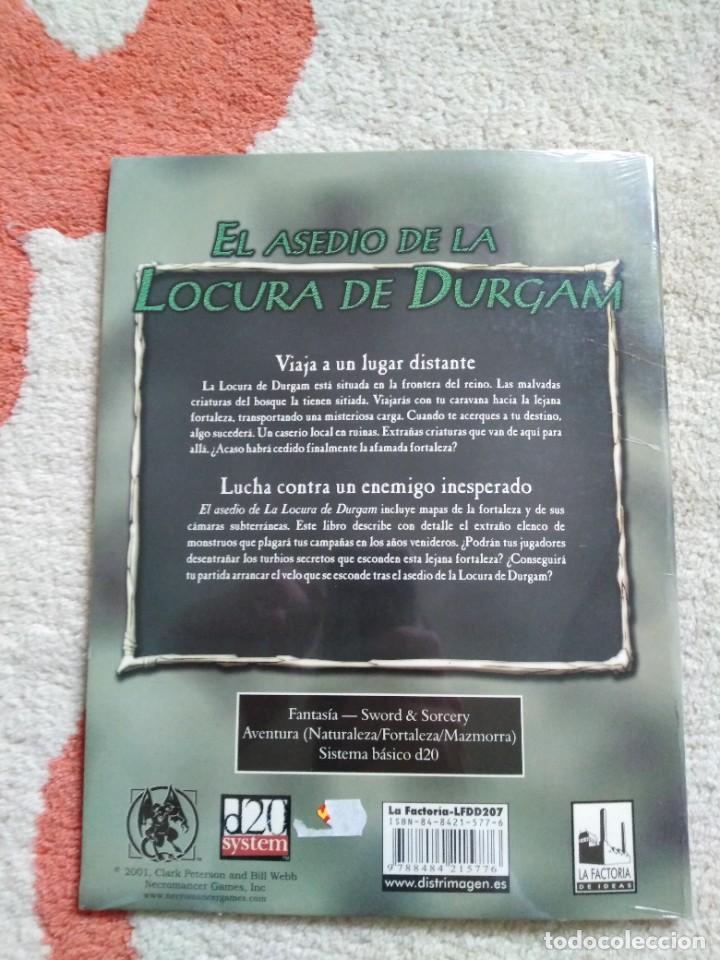 Juegos Antiguos: DUNGEONS & DRAGONS EL ASEDIO DE LA LOCURA DE DURGAM (la factoria lfdd207) - Foto 2 - 253928080