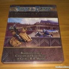 Juegos Antiguos: JUEGO DE TRONOS ESCENARIO DE CAMPAÑA D&D DUNGEONS AND DRAGONS ROL D20 DEVIR PRECINTADO. Lote 253961800