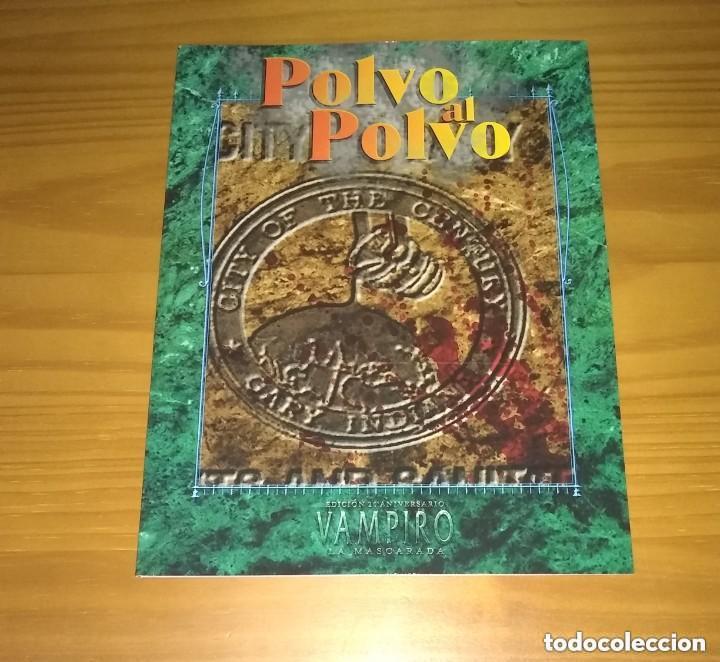 Juegos Antiguos: VAMPIRO LA MASCARADA 20º ANIVERSARIO EDICIÓN DELUXE V20 NOSOLOROL PRECINTADO + RECOMPENSAS MECENAZGO - Foto 8 - 253963170