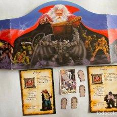 Jeux Anciens: SEPARADOR, CARTA BASTÓN, TARJETA MAGO, TARJETA ENANO Y 4 PUERTAS HERO QUEST. Lote 254490925